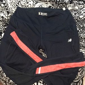 New Balance Leggings with coral stripe